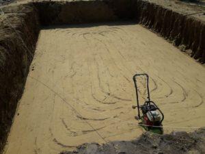 Уплотнение песка
