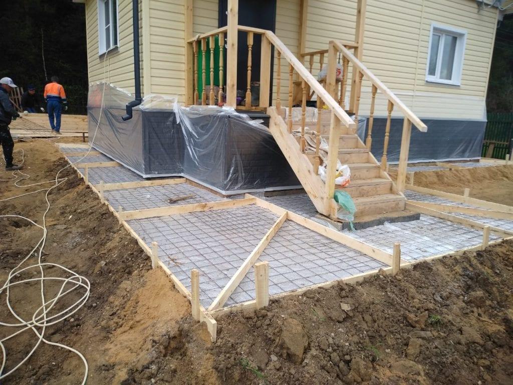 Подготовка под отмостку из бетона